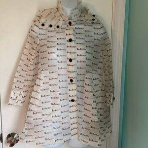 Burberry vinyl rain jacket NWT